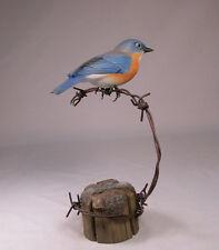 Eastern Bluebird Female Backyard Bird Carving/Birdhug