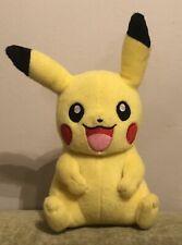"2015 TOMY Pokemon Yellow Plush PIKACHU Embroidered Eyes Stuffed Animal Toy 9"""