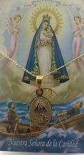 """Caridad de el Cobre acero medalla 7/8"""" with chain/O.L.Charity medal W/Chain"""