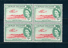 CAYMAN ISLANDS 1953 DEFINITIVES SG157 9d BLOCK OF 4 MNH