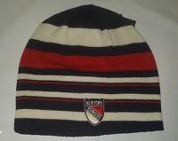 NY New York Rangers Knit Beanie Toque Winter Hat Skull Cap NHL Striped very nice