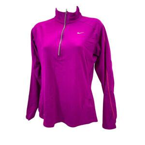 Nike Element Half Zip Long Sleeve Running Pull over Women's Medium (321646)