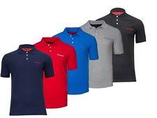 New Mens Designer Pierre Cardian Pique Polo T Shirt Casual Plain Tops Size S-2XL