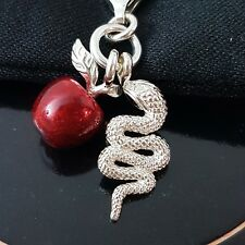 Thomas Sabo dieversuchung charm pulsera cadena colgante 925 plata serpiente de manzana