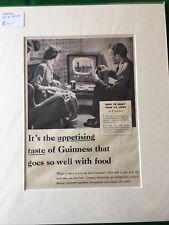 Guiness Advert - Original 1955 TV B&W