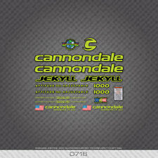 0716 Cannondale Jekyll 1000 Bicycle Stickers - Decals - Transfers - Green