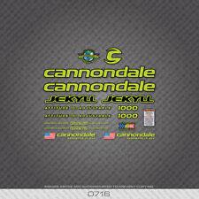 0716 Cannondale Jekyll 1000 Bicicletta Adesivi-Decalcomanie-Transfers-Verde
