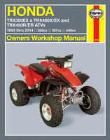 HONDA TRX 400EX, 300EX,450R,450ER REPAIR,SERVICE OWNERS MANUAL M2318