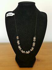 Gorgeous Aura Black & Diamanté Beaded Necklace BNWT Very Sparkly