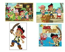 4 Jake and The Neverland Pirates Stickers, Party Supplies, Favors,Gifts, labels