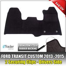 Ford Transit Custom Carpet Mats Mat Set 2012-2015 Front Tailored 2 Clips D/S NEW