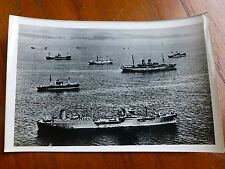 Lot40 - WW2 Original Photo UNKNOWN Ships in HARBOUR