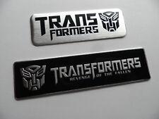 2x Stück TRANSFORMERS, Alu 3D Sticker, Aufkleber, badge, Schriftzug