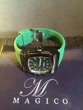 Magico Men's MAGICO-330-BB-01-GRN Dominator Green/Black Green Silicone Watch