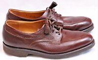 NEW Johnston & Murphy Shoes Leather Apron Split Toe pebbled lace up Men's US 8C