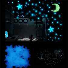 100PCS Lots  Glow In The Dark Stars Wall Sticker Kids Bedroom Room Ceiling Decor