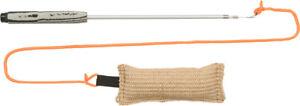 Dog Play Pole Portable Lure Rod & Jute Dummy Stick For Dog Pet Activity Training