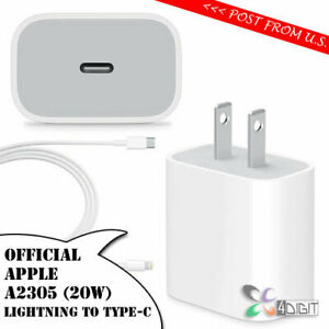 Original Genuine Apple A2305 20W iPhone13 iPhone 13 mini Pro Max AC WALL CHARGER
