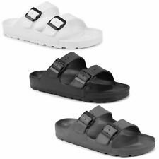 Mens Sandals Sliders Adjustable Buckle Summer Slippers Mules Rubber Waterproof