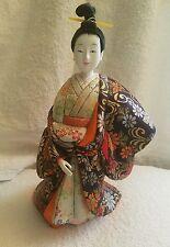 "Vintage Japanese Geisha Doll 13"" Tall - RARE!"