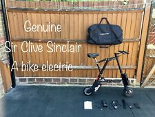 Sir Clive Sinclair folding A Bike electric