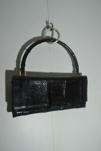 Gucci Python Leather Bamboo Black Flap 001 4055 Clutch