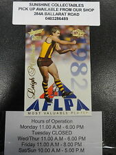 1995 SELECT MVP 1982 SENSATION CARD NO.1 LEIGH MATTHEWS