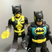 LOT 2X Imaginext DC Super Friends BATMAN  Yellow of Transforming Batmobile #K