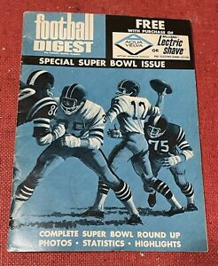 FOOTBALL DIGEST 1971 Special Super Bowl Issue Promo