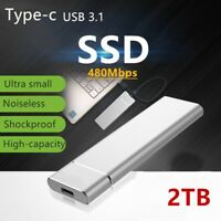 USB 3.1 External SSD Solid State Drive 1TB 2TB Portable Mobile Hard Drive