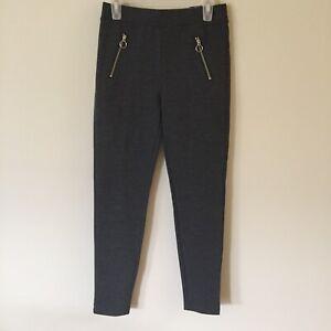 NWT Justice size 12 dark gray leggings, decorative zip
