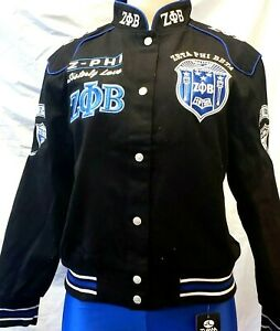 New! Blue Zeta Phi Beta Sorority Embroidered Jacket