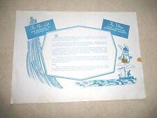 VINTAGE PAPER MAT NET LOFT VIKING VICTORIA B.C. ALBERTA CANADA 1960's or earlier