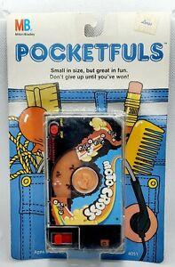 RARE! '87 Moto Cross Milton Bradley Pocketfuls Travel Game on CARD!