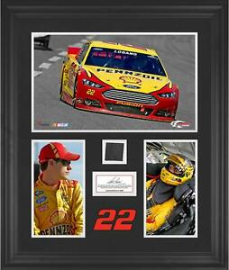 Joey Logano Framed 3-Photograph Collage w/ Race-Used Tire-LE of 500