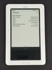 RARE Barnes & Noble Nook 1st Edition BNRZ100 2GB WiFi White Tested Issue HGP21