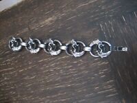 Vintage Modernist Designer Armband Midgardschlange Jörmungandr 925er Silber