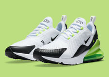Nike Air Max 270 para Hombre Blancas Negras Tenis de entrenamiento Voltios Amarillo Zapatos UK 6-12