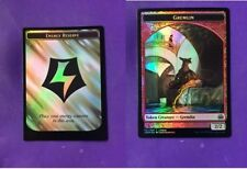MTG Gremlin // Energy Reserve Doubled Sided Foil League Promo Card NM