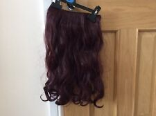 Long Burgundy Red Synthetic Thick Wavy Hair Extension Perfect For Fancy Dress