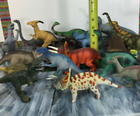 Lot Of 19 Dinosaur Toys -  Realistic & Educational Geo world Unbranded  And More