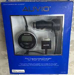 Auvio Full Band FM Transmitter and Charger for iPod and iPhone 1200769  C51