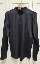 Adidas Mens Sz L Black 1/4 Zip Long Sleeve Shirt