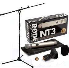 Rode NT3 Kondensatormikrofon + KEEPDRUM Mikrofonstativ MS106