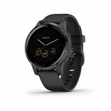 Garmin Vivoactive 4S GPS Smartwatch w/ Fitness and Music Apps Black/Slate 010-02