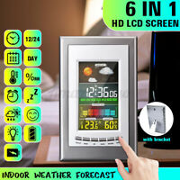 Digital Weather Station Screen Barometer Temperature Calendar Clock Living room