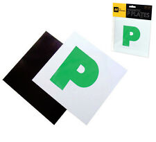 Pack of 2 AA Fully Magnetic Secure Green Driver P Plates Just Passed Car