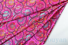 *BY 1/2 YD X 92CM DAMASK JACQUARD BROCADE FABRIC : BUDDHA LOTUS WISDOM