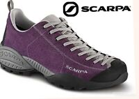SCARPA mojito shoes purple suede leather hiking trail 38.5 mens 6.5 womens 7.5
