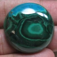 NATURAL AZURITE MALACHITE CABOCHON ROUND SHAPE 95.10 CTS LOOSE GEMSTONE D 3617